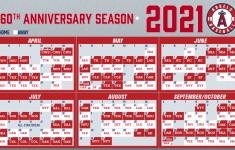 Angels 2021 Printable Schedule