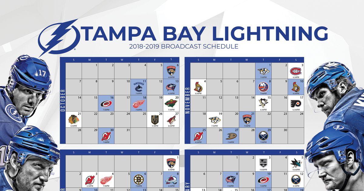 Best Tampa Bay Lightning Printable Schedule Dan s Blog