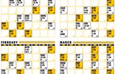 Bruins Printable Schedule