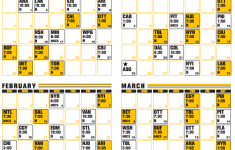 Boston Bruins Printable Schedule