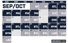 Brewers Release Schedule For 2021 Season