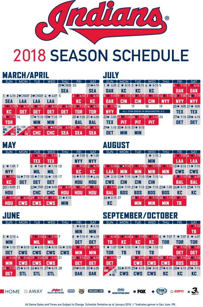 Cleveland Indians Unveil 2018 Schedule CBS Cleveland