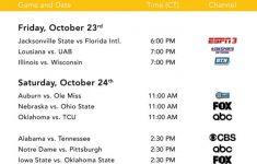 College Football Tv Schedule 2021 Printable