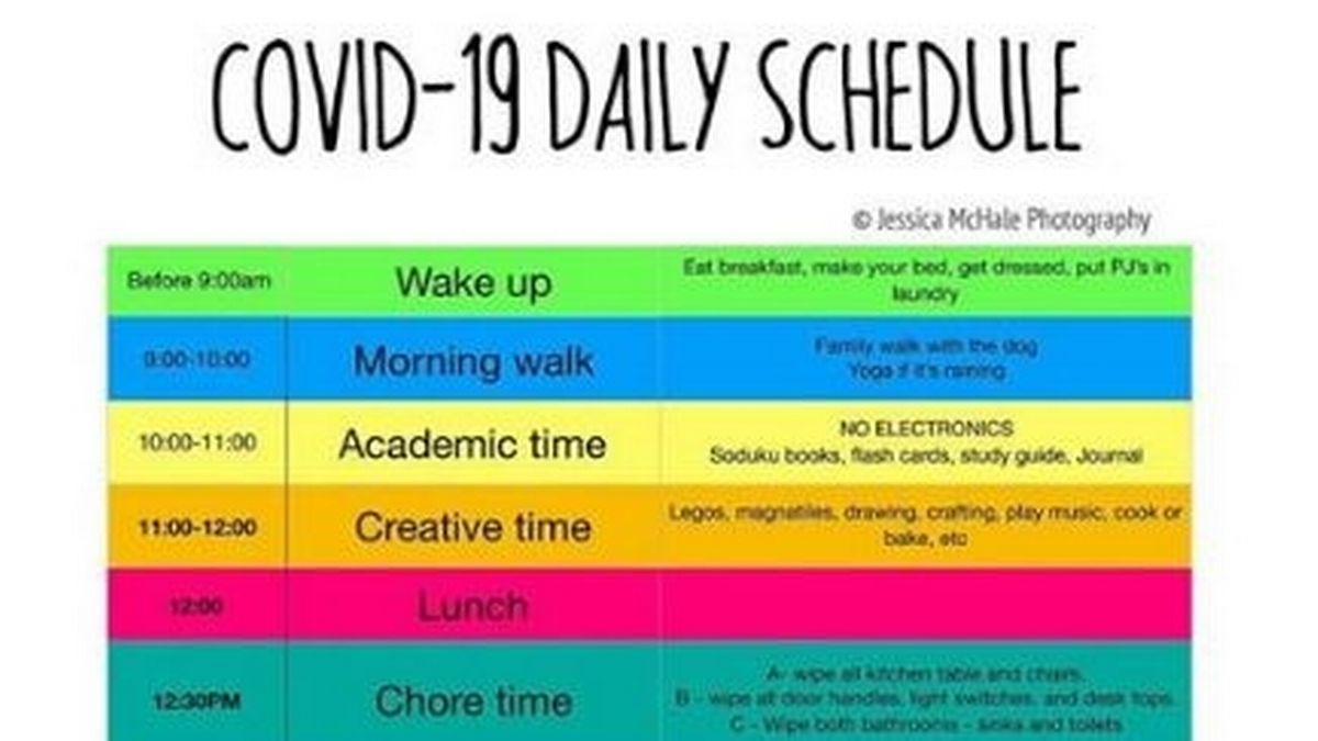 Covid 19 Daily Schedule Printable Download Poster