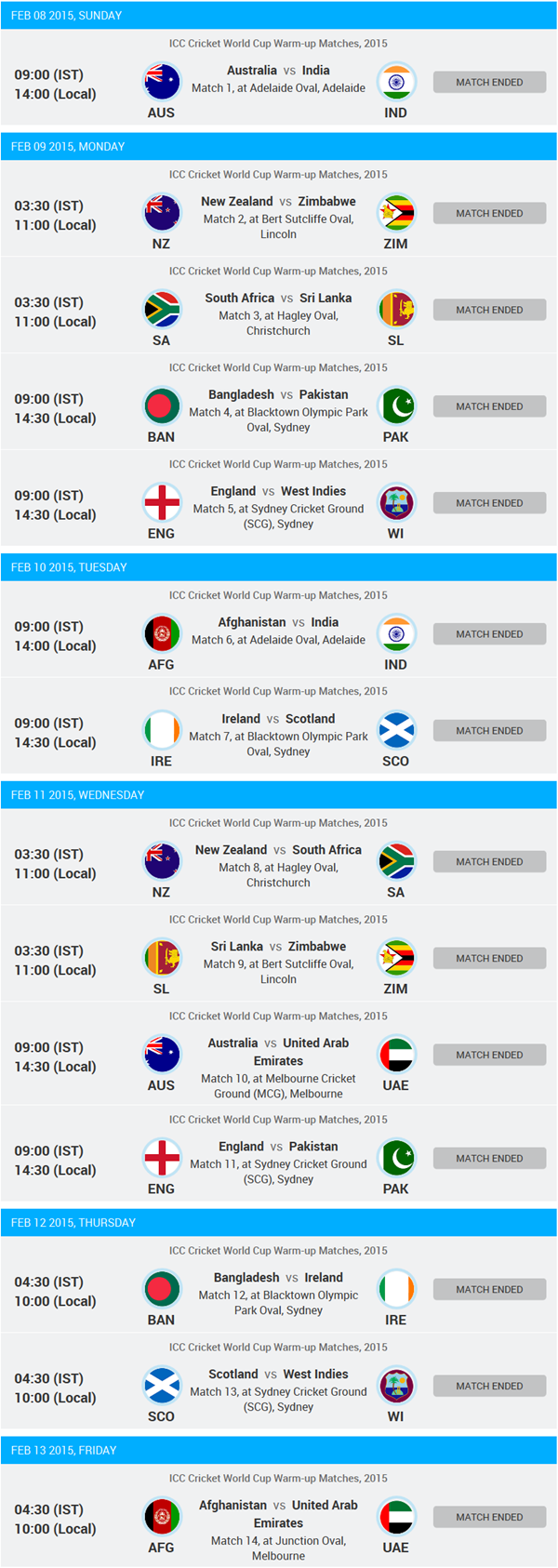 Cricket World Cup 2021 Schedule And Calendar Download The