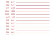 Daily Schedule Free Printable Homeschool Schedule