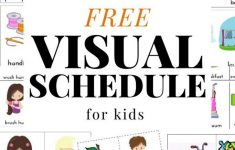 Daily Visual Schedule For Kids Free Printable In 2020