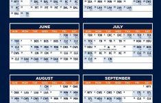 Detroit Tigers Printable Schedule