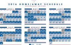 Dodgers Schedule Printable