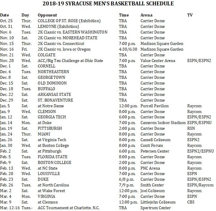 Gargantuan Su Basketball Schedule Printable Joann Website