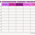 Homeschool Schedule Template Daily Printable Schedule
