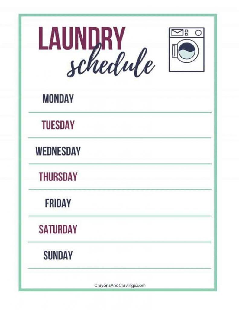 Laundry Routine Tips And Free Laundry Schedule Printable