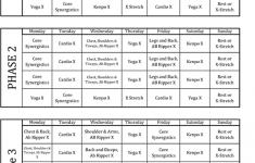 Lean P90X Schedule Smart Ass Fitness