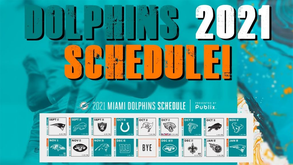 Miami Dolphins 2021 Schedule Release YouTube
