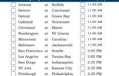 Mountain Time Week 3 NFL Schedule 2016 Printable