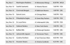 Nfl Week 10 Schedule 2013