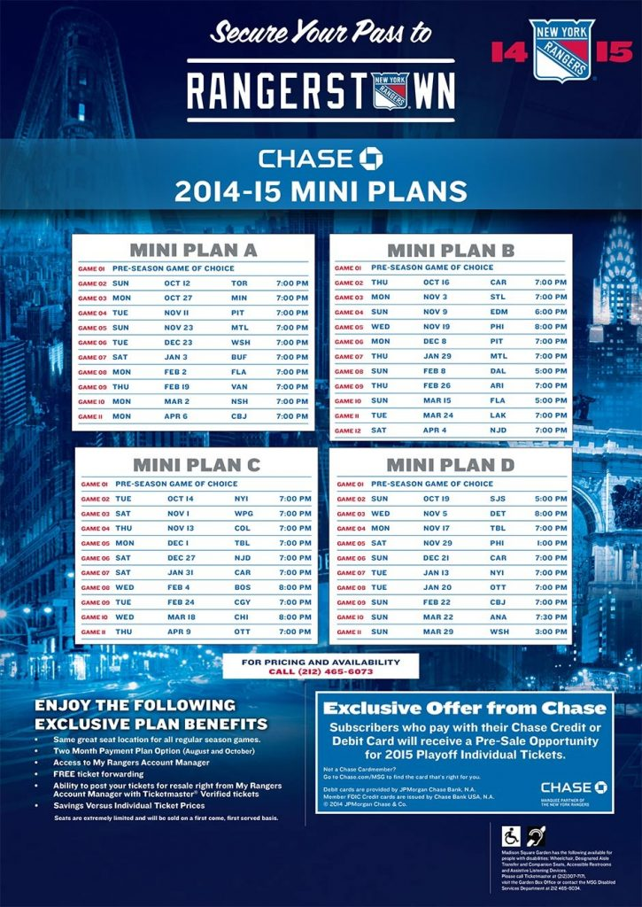 Ny Ranger Schedule Examples And Forms