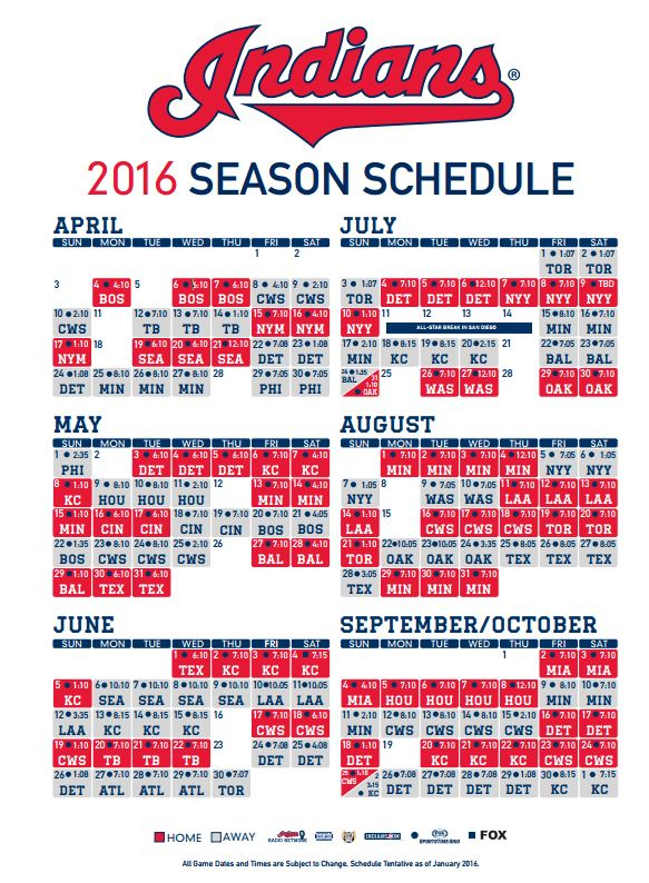 Obsessed Cleveland Indians Printable Schedule Dan s Blog