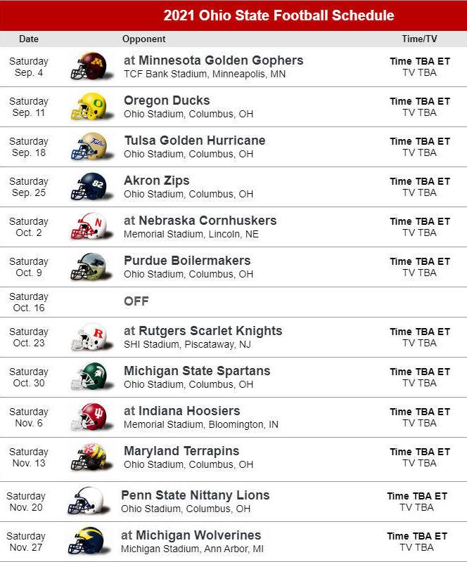 Osu Buckeyes Football Schedule 2021 NEWREAY