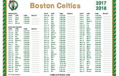 Printable 2017 2018 Boston Celtics Schedule