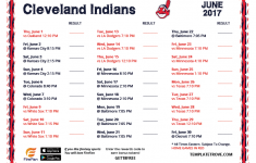 Printable 2017 Cleveland Indians Schedule