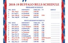 Buffalo Bills Schedule Printable