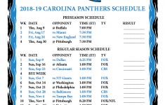 Printable 2018 2019 Carolina Panthers Schedule