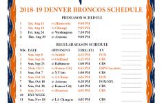 Printable Broncos Schedule