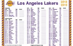 Printable 2018 2019 Los Angeles Lakers Schedule