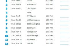 Printable 2018 Carolina Panthers Football Schedule