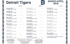 Printable 2018 Detroit Tigers Schedule