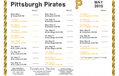 Printable 2019 Pittsburgh Pirates Schedule