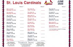 Printable 2020 St Louis Cardinals Schedule