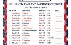 Printable 2021 2022 New England Patriots Schedule