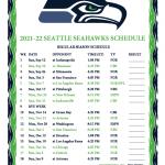 Printable 2021 2022 Seattle Seahawks Schedule