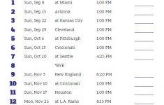 Printable Baltimore Ravens Schedule 2019 Season Ravens