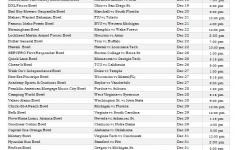 College Bowl Games Printable Schedule