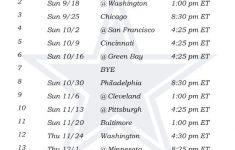 Printable Dallas Cowboys Schedule 2016 Football Season