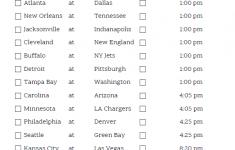 Printable NFL Week 10 Schedule Pick Em Pool 2021