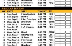 Printable Pittsburgh Steelers 2019 Schedule Pittsburgh