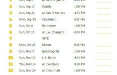 Printable Pittsburgh Steelers Schedule 2019 Season