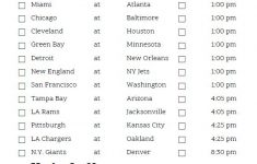 Printable Week 6 NFL Schedule Pick Em Sheets Nfl Nfl
