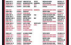 Printable2018 Las Vegas Aces Basketball Schedule