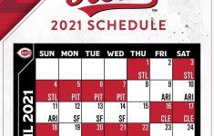 Reds Schedule 2021 Calendar 2021 Calendar