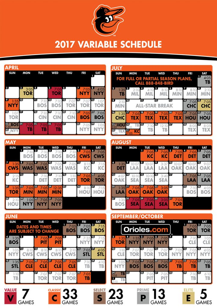 Ridiculous Orioles Printable Schedule Mason Website