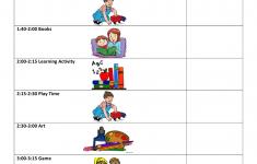 Sample Preschool Daily Schedule Download Printable PDF