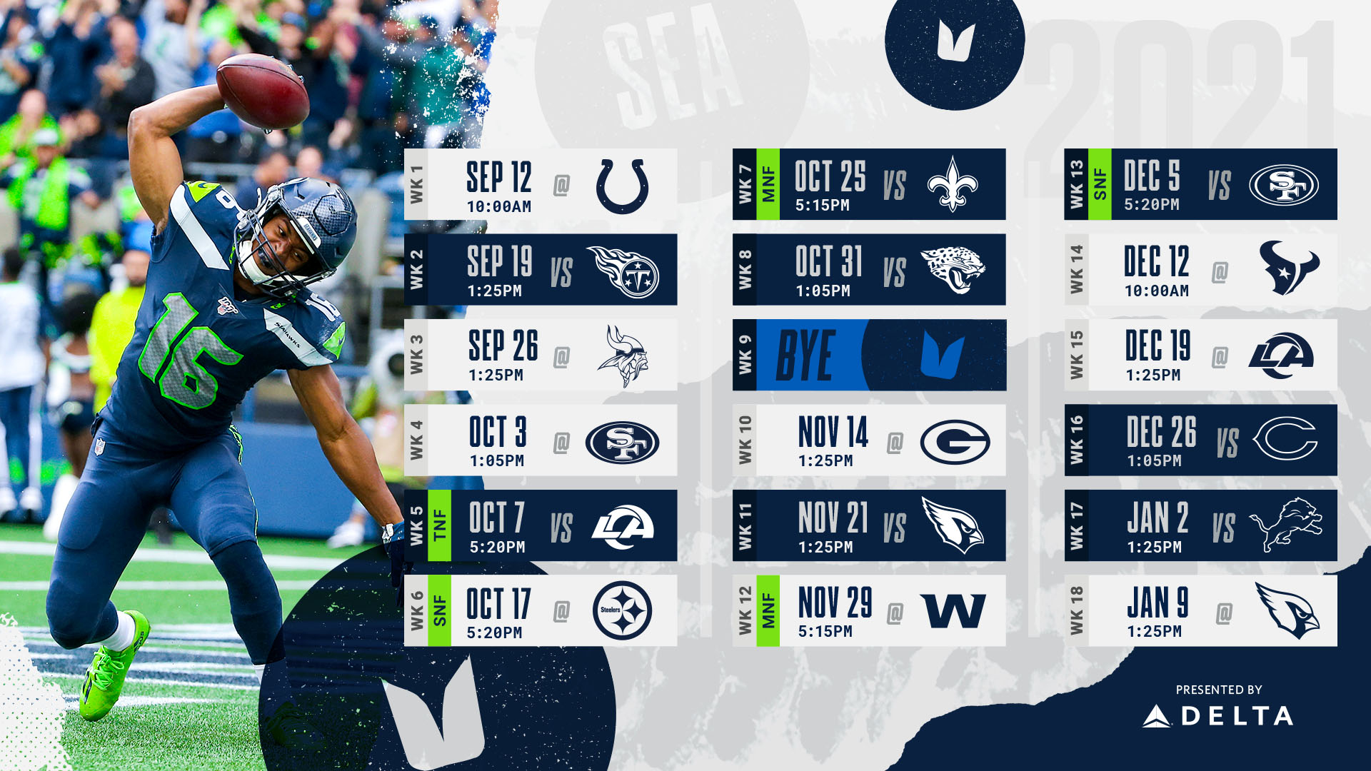Seattle Seahawks 2021 Schedule Released Opens At Colts