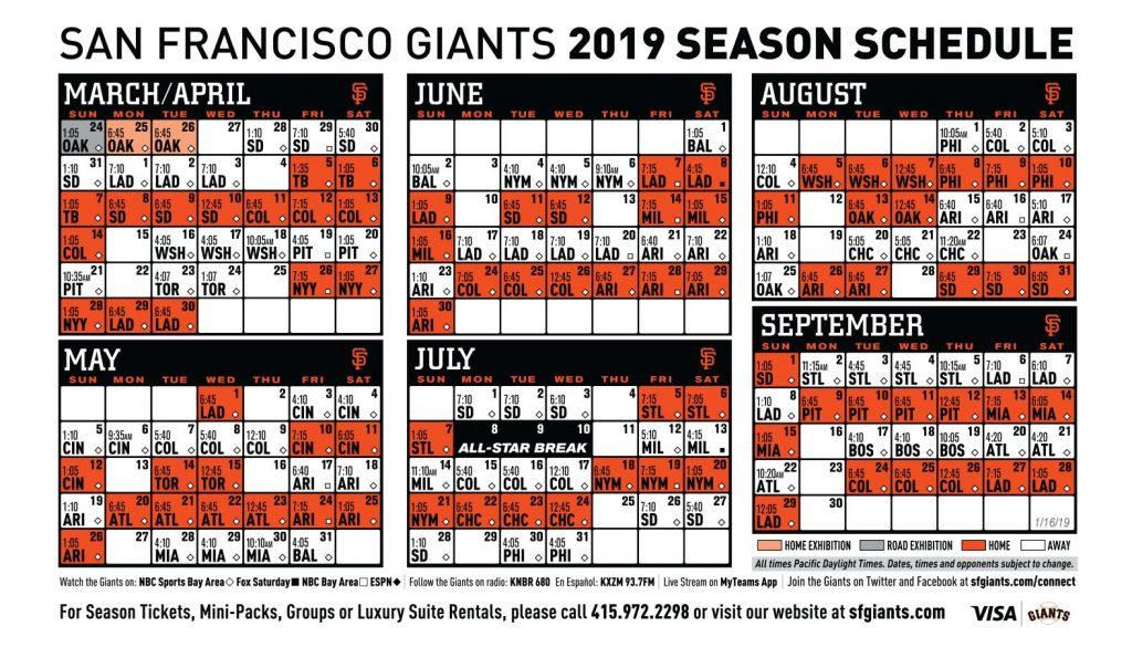 Sf Giants 2021 Schedule Printable PrintableSchedule