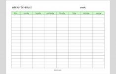 Simple Weekly Schedule Printable