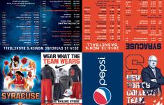 Syracuse Men S Women S Basketball Schedule Card 2014